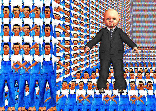 Capitalism Digital Art - The Age Of Man by Chas Hauxby