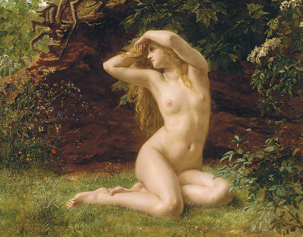 Eve Painting - The First Awakening by Valentine Cameron Prinsep