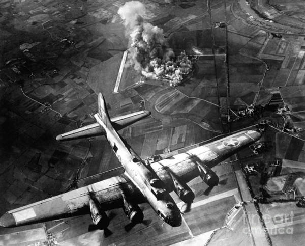 Bomber Aircraft Photograph - The First Big Raid By The 8th Air Force by Stocktrek Images