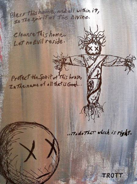 Voodoo Doll Painting - The First Child by Anthony Trott
