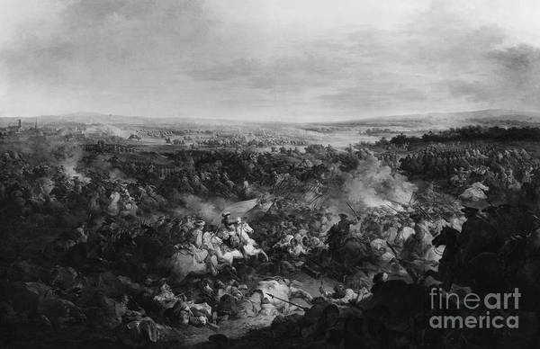 The Clash Wall Art - Painting - The First Day Of The Battle Of Fribourg, 3 August 1644  by Francesco Giuseppe Casanova
