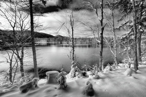 Photograph - The First Snow On West Lake by David Patterson