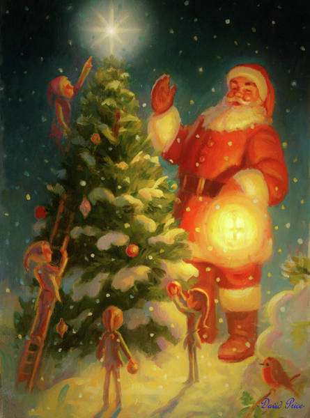 Wall Art - Painting - The First Tree Of Christmas by David Price