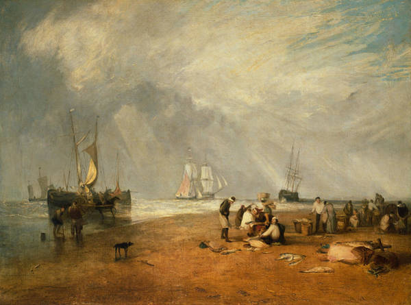 Painting - The Fish Market At Hastings Beach by Joseph Mallord William Turner