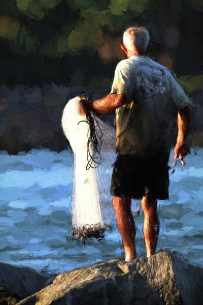 Photograph - The Fisherman And His Net by Carol Montoya