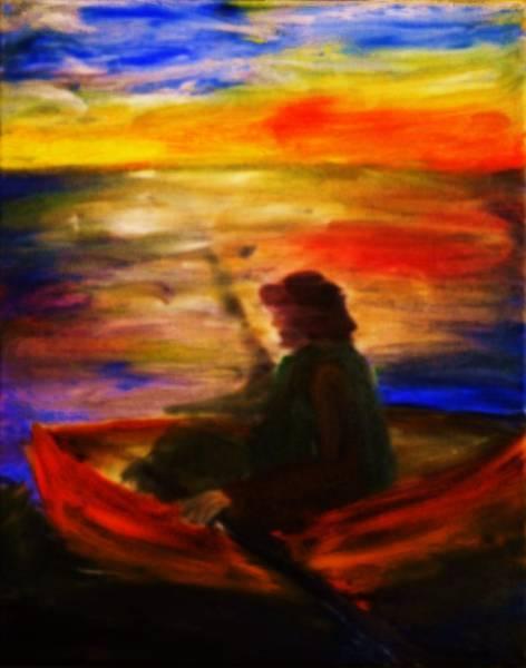 The Fisherman Art Print by Evelina Popilian
