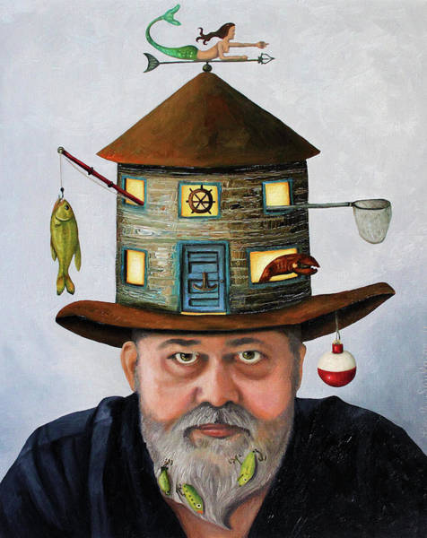 Painting - The Fisherman by Leah Saulnier The Painting Maniac