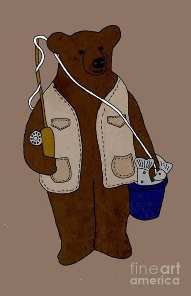 Fishing Pole Digital Art - The Fisherman by Priscilla Wolfe