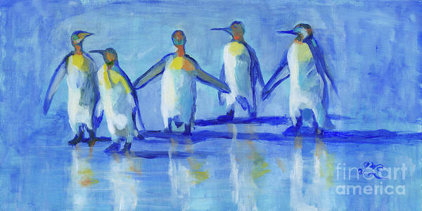 Wall Art - Painting - The Five by Gloria Condon