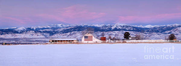 Wall Art - Photograph - The Flag Barn And The Mountains  by Ronda Kimbrow
