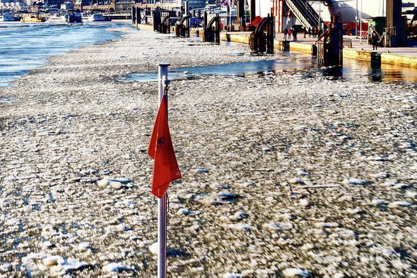 Photograph - The Flag Of The Ferry.ice by Marina Usmanskaya