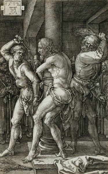 Albrecht Durer Wall Art - Relief - The Flagellation by Albrecht Durer