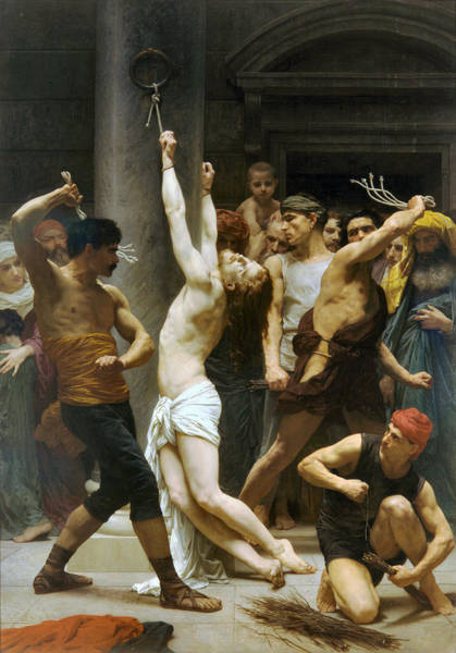 Painting - The Flagellation Of Our Lord Jesus Christ 1880 by William Bouguereau Presented by Joy of Life Art