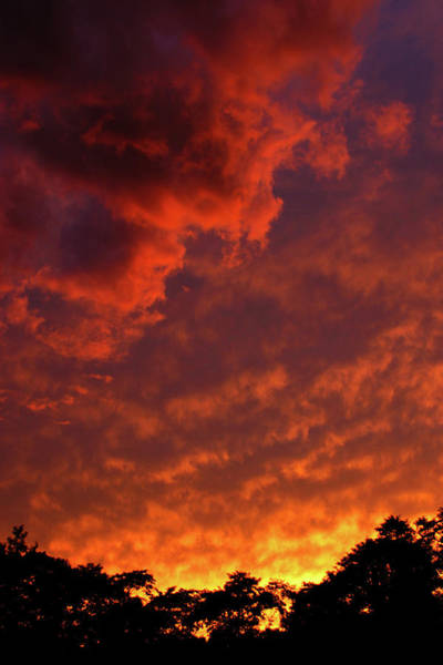 Photograph - The Flames Of Day Smoldering Into Night 1554 H_2 by Steven Ward