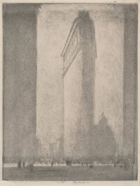 Wall Art - Drawing - The Flat Iron New York by Joseph Pennell
