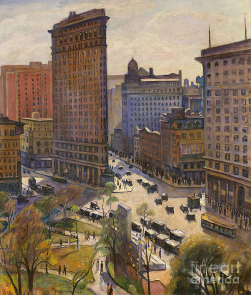 Wall Art - Painting - The Flatiron Building, 1919  by Samuel Halpert