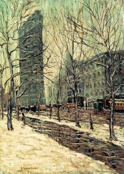 Manhattan Skyline Painting - The Flatiron Building 2 by Mountain Dreams