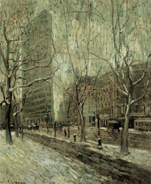 Photograph - The Flatiron Building New York City by Ernest Lawson