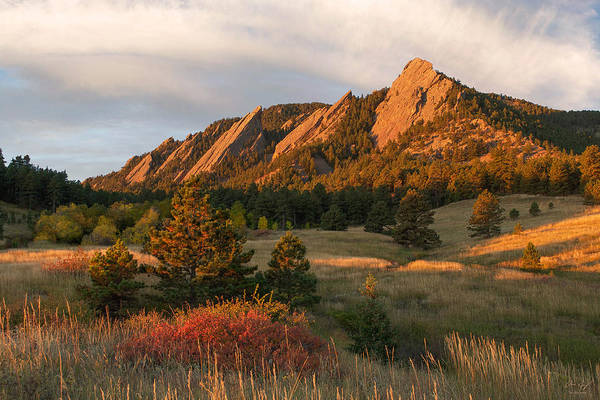 Wall Art - Photograph - The Flatirons - Autumn by Aaron Spong