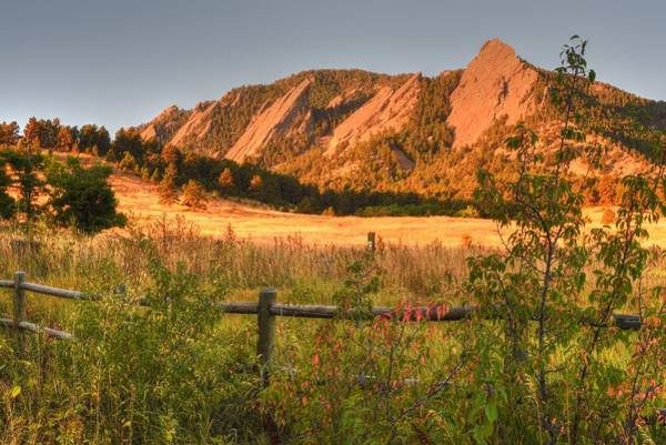 Photograph - The Flatirons Boulder Colorado From Chautauqua Park by Toby McGuire