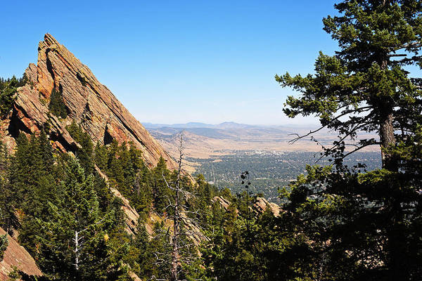 Photograph - The Flatirons Boulder Colorado From The Royal Arch by Toby McGuire