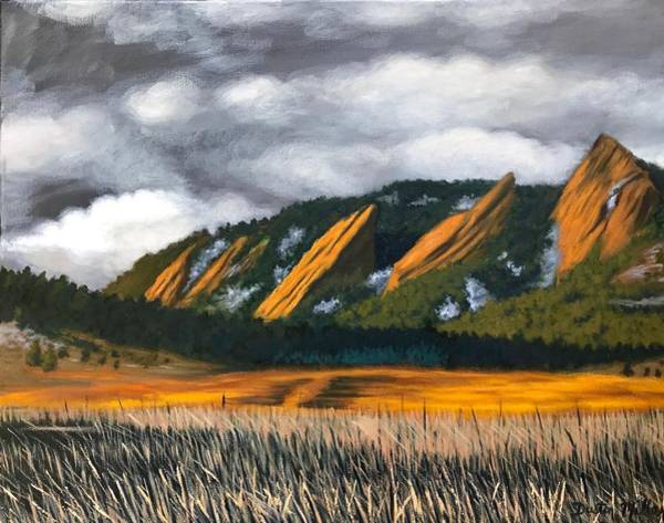Painting - The Flatirons by Dustin Miller