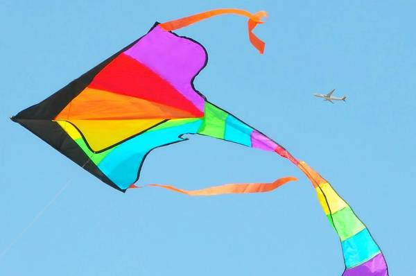 Flying A Kite Photograph - Flight And The Kite by Diana Angstadt