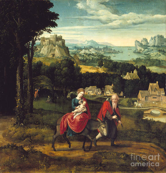 Painting - The Flight Into Egypt by Celestial Images