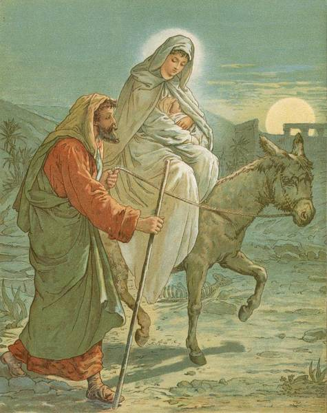 Lamb Of God Wall Art - Painting - The Flight Into Egypt by John Lawson