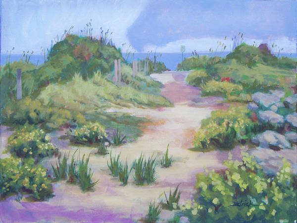 Wall Art - Painting - The Flip-flop Path To Paradise by Carol Strickland