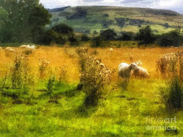 Farm Landscape Mixed Media - The Flock by Abbie Shores