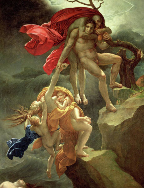 Tragedy Painting - The Flood by Anne-Louis Girodet