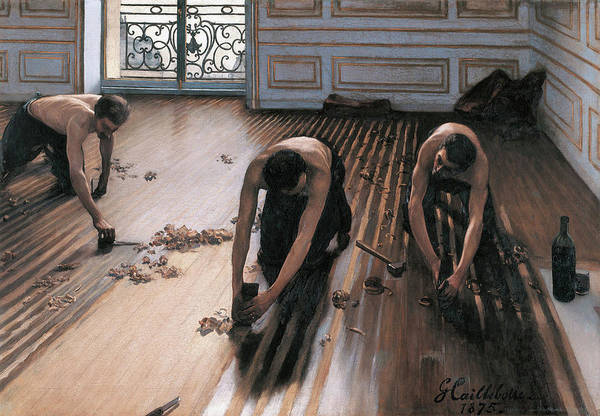 Painting - The Floor Scrapers by Gustave Caillebotte