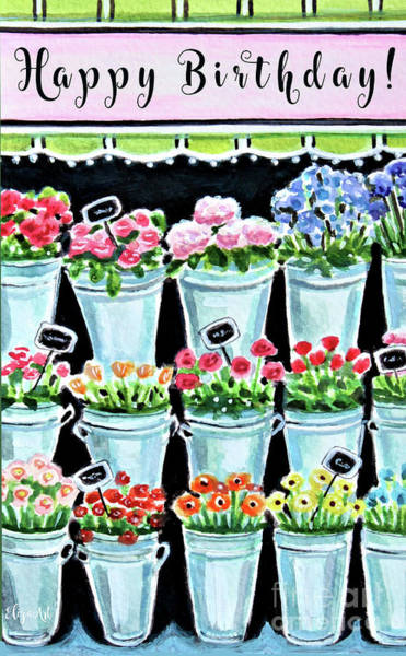 Painting - The Flower Shop by Elizabeth Robinette Tyndall