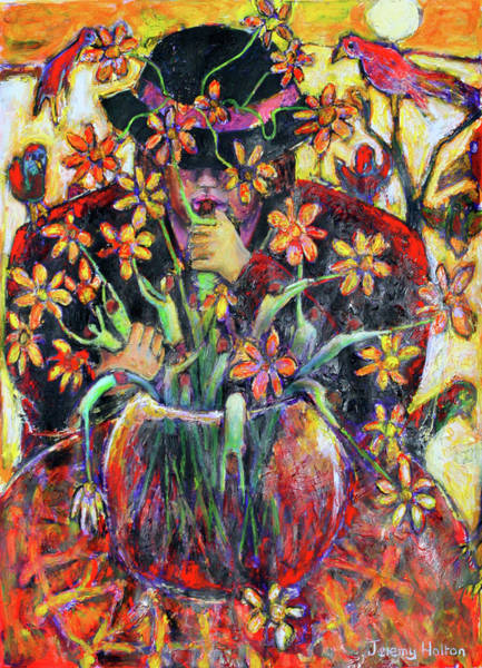 The Flower Arranger Art Print