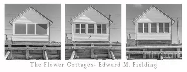 Cottage Style Wall Art - Photograph - The Flower Cottages Trio Poster by Edward Fielding