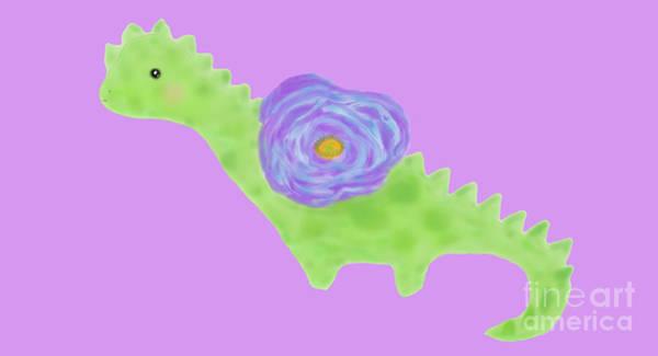 Mixed Media - The Flower Dinosaur  by Reina Resto