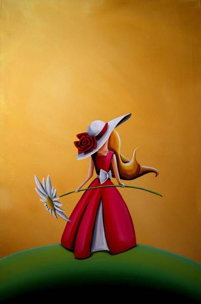 Wall Art - Painting - The Flower Girl by Cindy Thornton