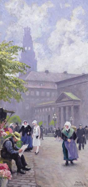 Blue Bonnets Painting - The Flower Seller by Paul Fischer