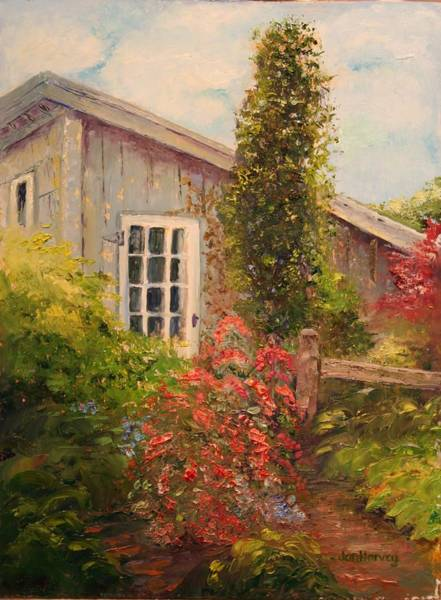 Wall Art - Painting - The Flower Shed by Jan Harvey