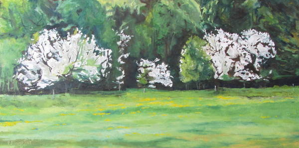 Wall Art - Painting - The Flowering Apple Trees by Francois Fournier