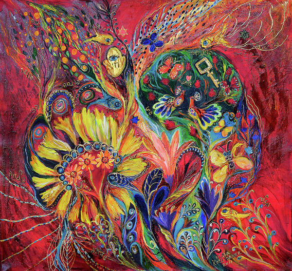 Kabbalistic Wall Art - Painting - The Flowering by Elena Kotliarker
