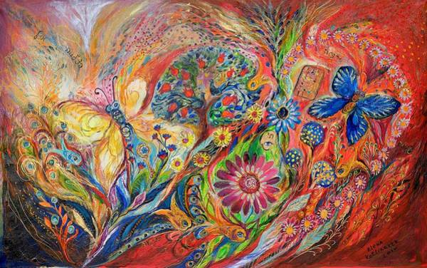 Wall Art - Painting - The Flowers And Trees by Elena Kotliarker