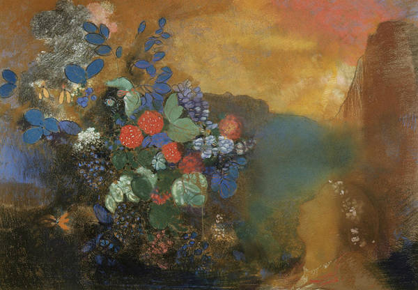 Ophelia Painting - The Flowers by Odilon Redon