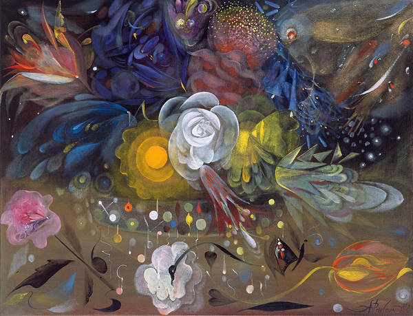 Tulip Bloom Painting - The Flowers Of Little Ida by Annael Anelia Pavlova