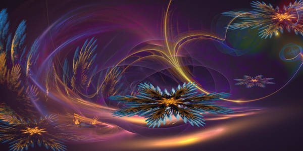 Ra Digital Art - The Flowers Of Winter Part Two by Phil Sadler