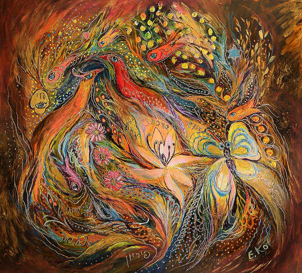 Wall Art - Painting - The Fluids Of Love by Elena Kotliarker