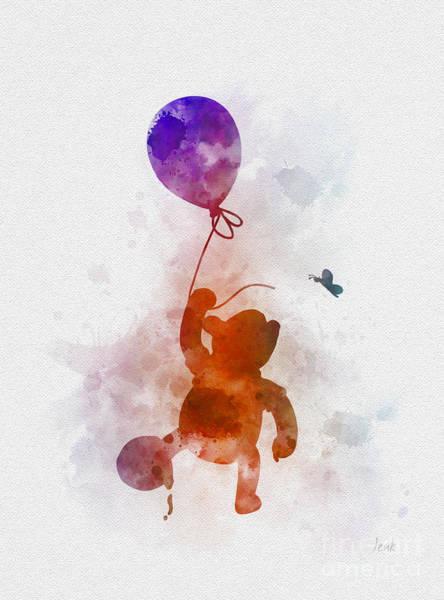 Tigger Wall Art - Mixed Media - The Flying Bear by My Inspiration