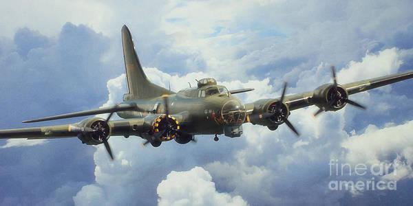 Wall Art - Digital Art - The Flying Fortress by J Biggadike