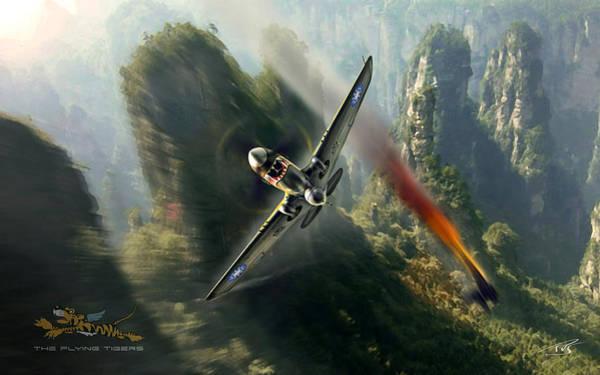 Ok Digital Art - The Flying Tigers by Peter Van Stigt